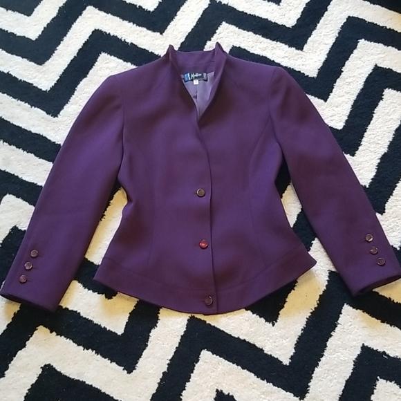 Vintage Clothing Sag Harbor Size 12 90s Plaid Blazer Jacket Women Large Black /& Tan Check Wool Blend Shoulder Pads Fall Winter Clothes
